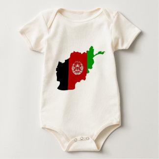 Mapa de la bandera de Afganistán Body Para Bebé