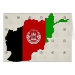 Mapa de la bandera de Afganistán del mismo tamaño Tarjeta De Felicitación