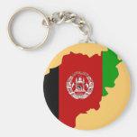 Mapa de la bandera de Afganistán Llavero