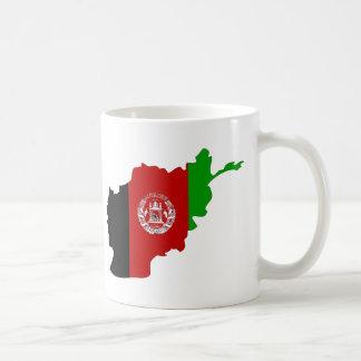 Mapa de la bandera de Afganistán Taza