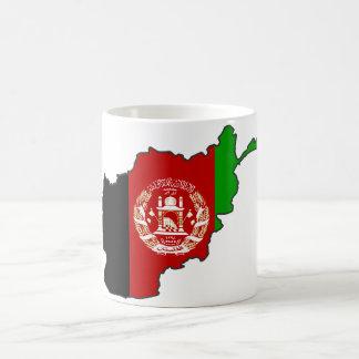 Mapa de la bandera de Afganistán Tazas