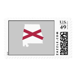 Mapa de la bandera de Alabama Franqueo