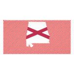 Mapa de la bandera de Alabama Tarjetas Fotograficas Personalizadas