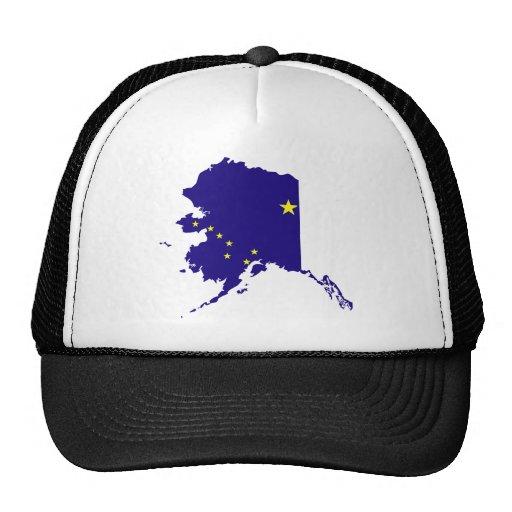Mapa de la bandera de Alaska Gorros