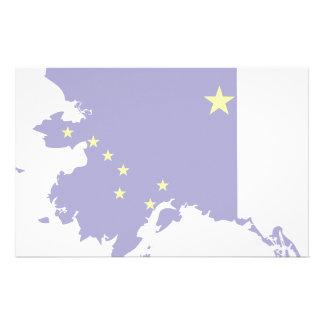 Mapa de la bandera de Alaska Papeleria