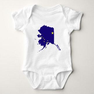Mapa de la bandera de Alaska Playera