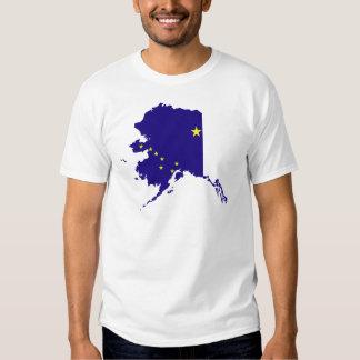 Mapa de la bandera de Alaska Playeras