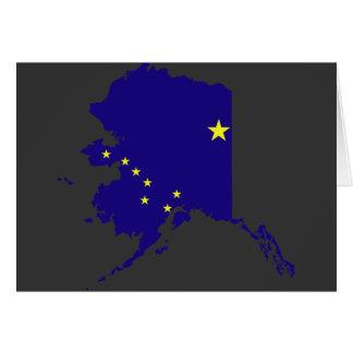Mapa de la bandera de Alaska Tarjeta De Felicitación