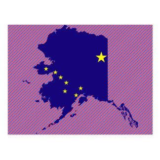 Mapa de la bandera de Alaska Tarjeta Postal