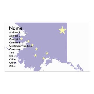 Mapa de la bandera de Alaska Tarjetas De Visita