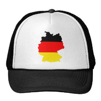 Mapa de la bandera de Alemania del mismo tamaño Gorros Bordados