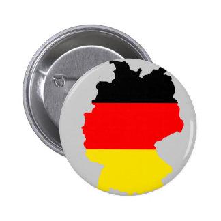 Mapa de la bandera de Alemania Pin Redondo 5 Cm