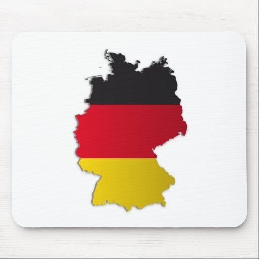 Mapa de la bandera de Alemania Tapetes De Ratón