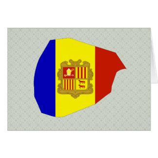 Mapa de la bandera de Andorra del mismo tamaño Felicitación