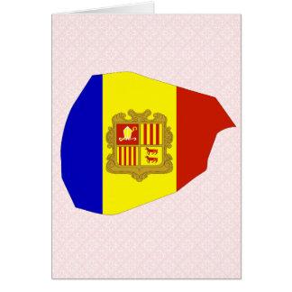Mapa de la bandera de Andorra del mismo tamaño Tarjeton