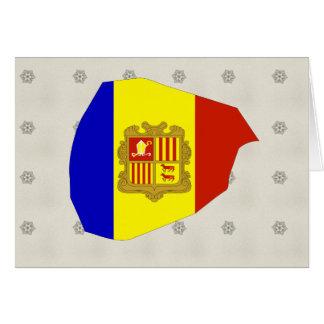 Mapa de la bandera de Andorra del mismo tamaño Tarjetas