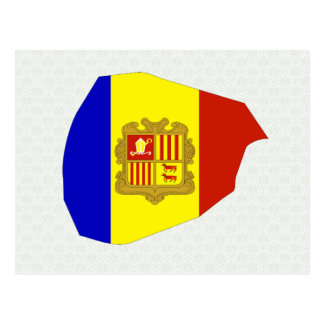 Mapa de la bandera de Andorra del mismo tamaño Tarjeta Postal
