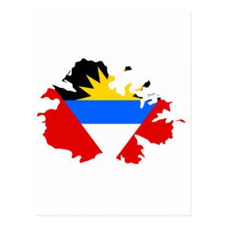 Mapa de la bandera de Antigua Postal