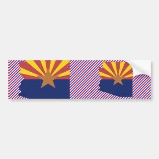 Mapa de la bandera de Arizona Pegatina De Parachoque