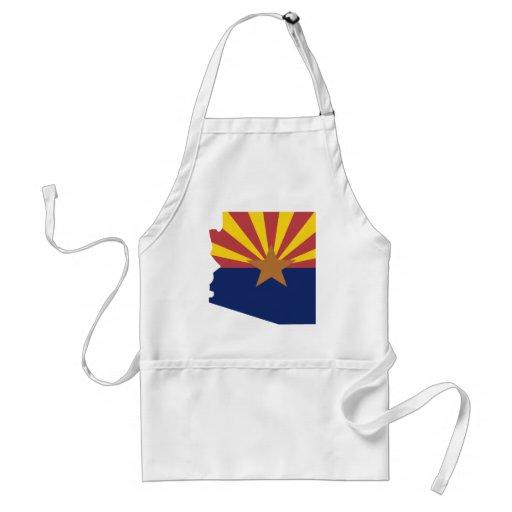 Mapa de la bandera de Arizona Delantal