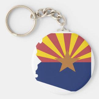 Mapa de la bandera de Arizona Llavero Redondo Tipo Pin