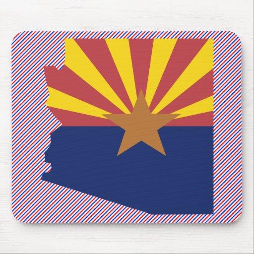 Mapa de la bandera de Arizona Tapetes De Raton