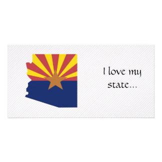Mapa de la bandera de Arizona Tarjeta Personal