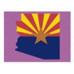 Mapa de la bandera de Arizona Tarjeta Postal