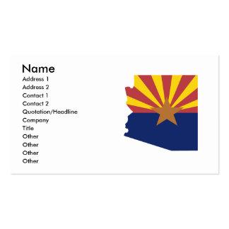 Mapa de la bandera de Arizona Tarjetas De Visita
