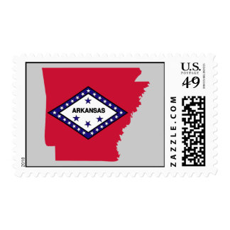 Mapa de la bandera de Arkansas Franqueo