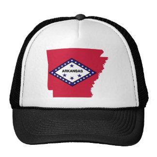 Mapa de la bandera de Arkansas Gorras