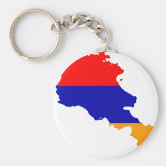 Mapa de la bandera de Armenia Llaveros Personalizados