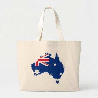 mapa de la bandera de Australia Bolsa Tela Grande