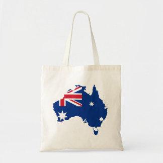 mapa de la bandera de Australia Bolsa De Mano