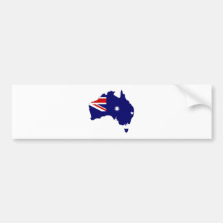 Mapa de la bandera de Australia del mismo tamaño Pegatina Para Auto