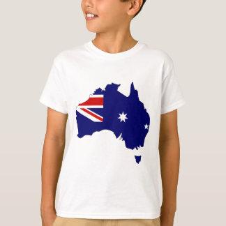 Mapa de la bandera de Australia del mismo tamaño Playeras