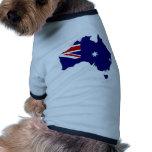 Mapa de la bandera de Australia del mismo tamaño Ropa Perro