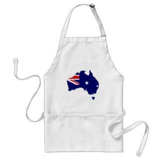 Mapa de la bandera de Australia Delantal