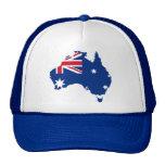 mapa de la bandera de Australia Gorro