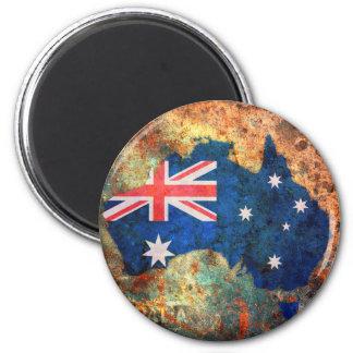 Mapa de la bandera de Australia Imán Redondo 5 Cm