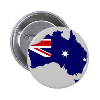 Mapa de la bandera de Australia Pin Redondo De 2 Pulgadas