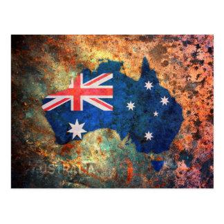 Mapa de la bandera de Australia Postal