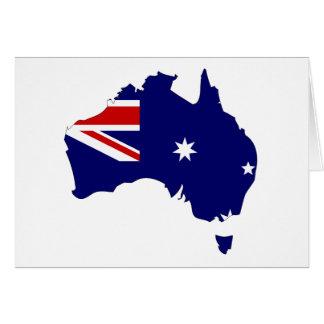 Mapa de la bandera de Australia Tarjeta De Felicitación