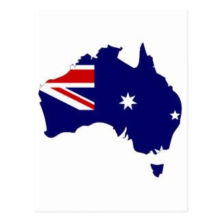 Mapa de la bandera de Australia Tarjeta Postal