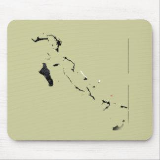 Mapa de la bandera de Bahamas Tapete De Ratones