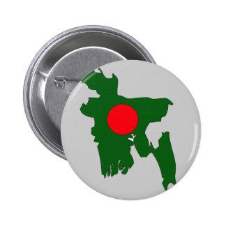 Mapa de la bandera de Bangladesh Pin Redondo De 2 Pulgadas