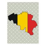 Mapa de la bandera de Bélgica del mismo tamaño Postal