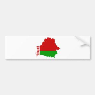 Mapa de la bandera de Bielorrusia CERCA Pegatina De Parachoque