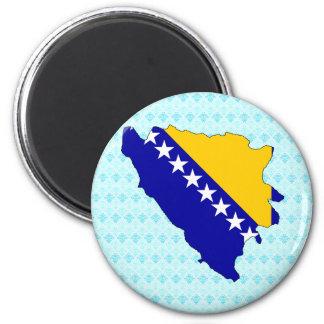 Mapa de la bandera de Bosnia y Hercegovina del mis Imán Redondo 5 Cm