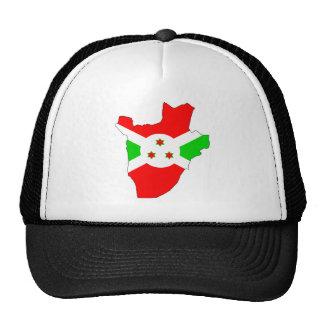 Mapa de la bandera de Burundi del mismo tamaño Gorro